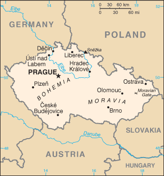 Map of Czech Republic